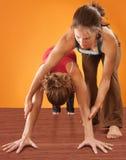 Woman Practicising Yoga Royalty Free Stock Photos