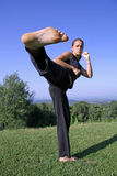 Woman practising self defense Stock Image