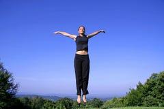 Woman practising self defense royalty free stock photos