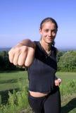 Woman practising self defense Royalty Free Stock Photography