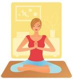 Woman practising yoga Stock Images