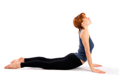 Woman Practising Yoga Asana Stock Photo