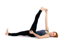 Woman Practising Yoga Exercise Royalty Free Stock Image