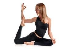 Woman practising yoga Royalty Free Stock Photography