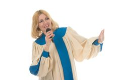 Woman Praise Lead Singer 3 Royalty Free Stock Images