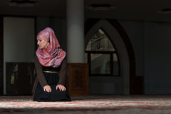 Woman Prayer At Mosque Royalty Free Stock Photos