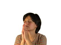 Woman praying Royalty Free Stock Photography