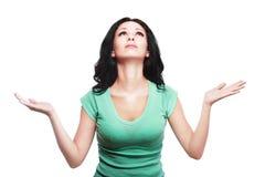Woman praying Royalty Free Stock Photo