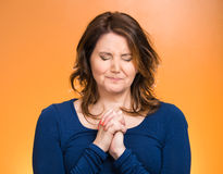 Woman praying Royalty Free Stock Images