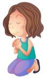 A woman praying Royalty Free Stock Photography