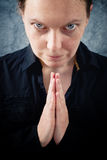 Woman praying and praising the God Royalty Free Stock Image