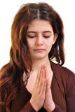 woman is praying in silence Royalty Free Stock Images