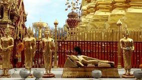 Woman Praying Thai Temple Doi Suthep Chiang Mai