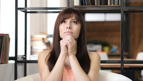 Woman praying to God, Wishing Stock Images