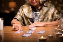 Woman predicting future Royalty Free Stock Photo