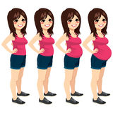 Woman Pregnancy Stages Stock Image