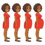 Woman Pregnancy Steps Stock Photo