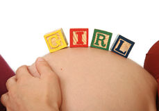 Woman pregnant Stock Images