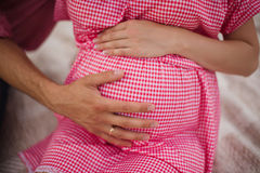 Woman pregnant belly Royalty Free Stock Photo