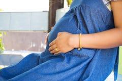 Woman pregnant. Stock Image