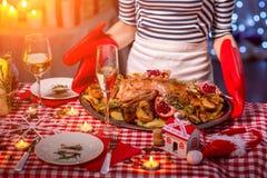 Preparing Christmas Dinner Stock Photo - Image: 95555519