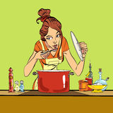 Woman preparing food in the kitchen Royalty Free Stock Photo