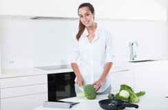 Woman Preparing Food Royalty Free Stock Photography