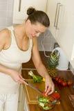 Woman preparing healthy food Stock Photography