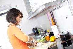 Woman preparing her breakfast Royalty Free Stock Photo