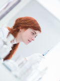 Woman  preparing injection Stock Photography