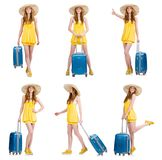 The woman preparing for summer vacation Royalty Free Stock Photo