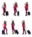 The woman preparing for summer vacation Stock Photography
