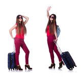 The woman preparing for summer vacation Royalty Free Stock Photography