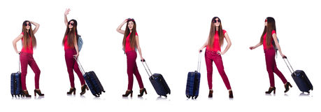The woman preparing for summer vacation Stock Photo
