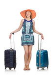 Woman preparing for summer vacation Royalty Free Stock Photos