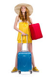 Woman preparing for summer vacation Royalty Free Stock Photography