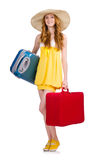 Woman preparing for summer vacation Stock Image