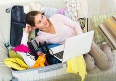Woman preparing to travel Royalty Free Stock Photo