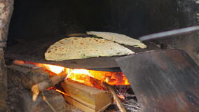 Woman preparing traditional food, gozleme, safranbolu, turkey stock video footage
