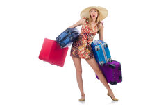 Woman preparing for travel Royalty Free Stock Photos