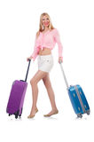 Woman preparing for travel Royalty Free Stock Photo