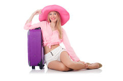 Woman preparing for travel Royalty Free Stock Images