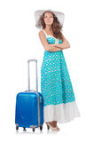 Woman preparing for travel Royalty Free Stock Image