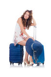 Woman preparing for travel Stock Photos