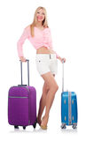 Woman preparing for travel Stock Photo