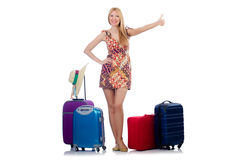 Woman preparing for travel Stock Photos