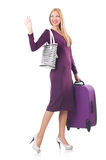 Woman preparing for vacation Royalty Free Stock Photography