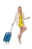 Woman preparing for vacation Royalty Free Stock Photo