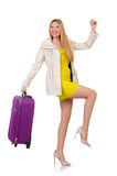 Woman preparing for vacation Royalty Free Stock Photos