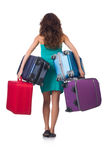 Woman preparing for vacation Royalty Free Stock Image